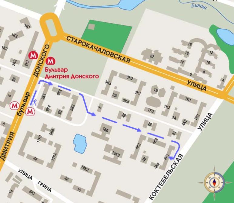 Расположение бц полларс на карте